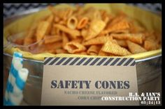 Construction Themed Birthday Party | Short & Sweets Food ideas