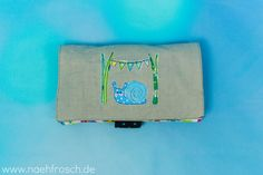 Nähfrosch Windeletui Freebook von Nähte für Käthe Wickeletui Wickeltasche Schnecke Stickdatei von Kerstin Bremer Nähen Sewing