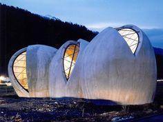 The Steinkirche (rock-church)   Cazis, Graubünden, Switzerland   Swiss architect Werner Schmidt