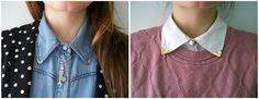 DIY - Punteras para cuellos de camisa / Collar tips