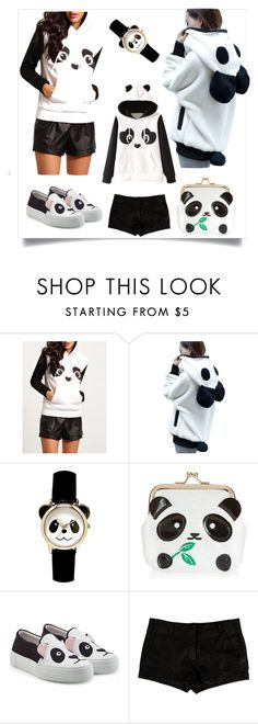 """Panda"" by hereisalessia ❤ liked on Polyvore featuring New Look, Joshua's and L'Agence"