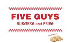 Offers burgers, hot dogs, and grilled sandwiches. #FiveGuys #Burgers #Blacksburg #Virginia #VisitorsGuide #StepIntoBlacksburg