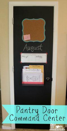 Easy DIY Pantry Door Kitchen Command Center