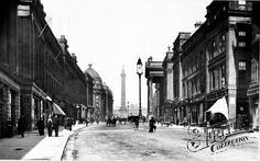Old photo of Grey Street 1890, Newcastle Upon Tyne.  Harry Sinclair would have walked down this street.