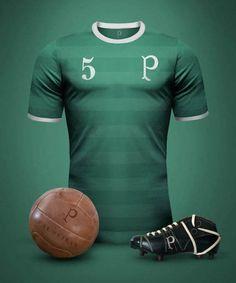fe90fdeed6 S.E. Palmeiras   Vintage Football  Conheça camisas clássicas criadas por  designer argentino - Guia do
