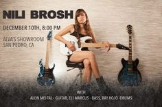 Nili Brosh: The Nili Brosh Band will be back at Alva's Showroom in San Pedro   Hello everyone and happy holidays! With the season of giving upon us I felt compelled to bring you an update of several pieces of good news:ddddddddddddddddddddddddddddddddddddddddddddddddddddddddddddd Firstly the Nili Brosh Band will be back at Alva's Showroom in San Pedro CA on Saturday Dec. 10th (8 pm). As some of you may know this is a particularly special venue for me as it is where I've seen several of my…