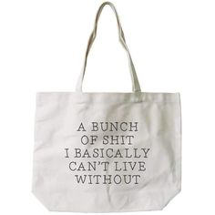 Women's Canvas Bag -Funny Can't Live Without Natural Canvas Tote Bag Can't Live Without Canvas Tote Bag - Cotton Eco Bag, Shopping Bag, Book Bag Large Bags, Small Bags, Bag Quotes, Printed Bags, Casual Bags, Cotton Bag, Canvas Tote Bags, Canvas Totes, Bag Making