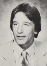 William Baldwin in his 1981 yearbook at Berner high school in Massapequa, New York.