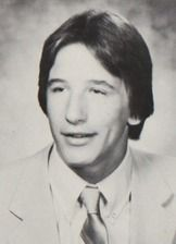 William Baldwin in his 1981 yearbook at Berner high school in Massapequa, New York.