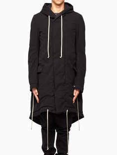 Drkshdw by rick owens Fishtail Parka in Black for Men