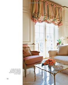 Mario Buatta: Fifty Years of American Interior Decoration Drapes And Blinds, Roman Blinds, Drapes Curtains, Interior Decorating, Decorating Ideas, Interior Design, Living Rooms, Living Room Decor, Mario Buatta