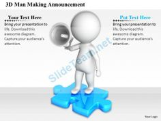1813 3D Man Making Announcement Ppt Graphics Icons Powerpoint #Powerpoint #Templates #Infographics