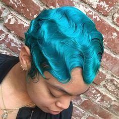 do y'all think finger waves cute ? Baddie Hairstyles, Retro Hairstyles, Modern Hairstyles, Weave Hairstyles, Wedding Hairstyles, Finger Waves Short Hair, Curly Hair Styles, Natural Hair Styles, Piercing
