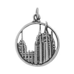 Salt Lake Temple Charm - Round Pendant