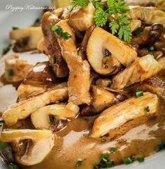 Przepisy na kurczaka warte spróbowania. Tym razem przepis na pierś z kurczaka z pieczarkami. Do wykonania tego przepisu potrzebujesz: piersi z kurczaka, pieczarek, cebuli, czosnku i sosu sojowego. Healthy Cooking, Cooking Recipes, High Carb Diet, Brunch, Kielbasa, Polish Recipes, What To Cook, No Carb Diets, Chicken Wings