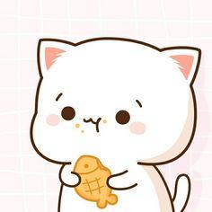 My BB😍😘😍 post goodie night pinsises BB😍😘😍😘☺ Cute Animal Drawings Kawaii, Cute Kawaii Animals, Kawaii Cat, Kawaii Drawings, Chibi Cat, Cute Chibi, Couple Fotos, Gato Anime, Cute Animals With Funny Captions