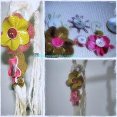 Flores en ecocuero.