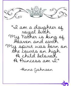 Daughter of the King💗 Anna Johnson Daughters Of The King, Daughter Of God, King Of Kings, King 3, American Heritage Girls, Princess Tea Party, How He Loves Us, Christian Women, Heavenly Father