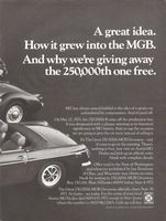 MG-TD Sports Car 1971 Ad Picture