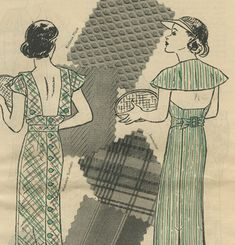 Butterick Fashion News pattern booklet August 1934 in PDF