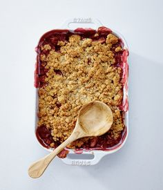 Raspberry and Apple Crumble