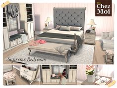 Cozy and elegant room with many exciting poses.  https://www.facebook.com/chezmoifurnituressl/  #secondlife #sl #mesh #design #chezmoifurnitures #chezmoi #bedroom #home #decor