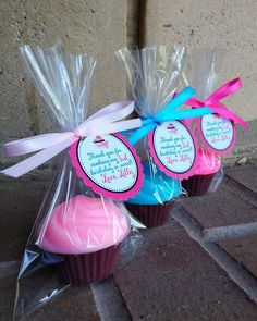 CUPCAKE SOAPS 10 Favors  Birthday Party Favor by favorsbyangelique, $18.50