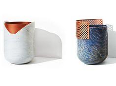 Marble and Copper | RABBET Vase by Budri design Patricia Urquiola