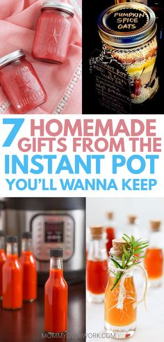Love your insta-pot lux or duo? Profess it to family and friends with these adorably creative HOMEMADE GIFTS IN THE INSTANT POT. Recipes for strawberry jam, hot sauce, infused honey, meal kits in mason jars, mini cheesecakes, apple butter, and candied nuts to give away. People will beg you for more of these sweet treats. Perfect for holidays, Christmas, birthday, baby shower, first time mom gift, housewarming, welcoming the neighbor, thank you, gift basket ideas #instantpot…