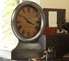 Pottery Barn Railroad Mantel Clock