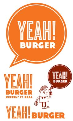 Various logos and marks for Yeah! Burger By Tad Carpenter