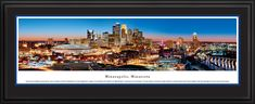 Minneapolis, MN City Skyline Panoramic Pictures & Posters