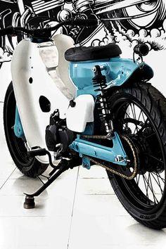 Custom Bobber, Custom Bikes, Bmx, Motocross, Honda Cub, Cafe Racing, Old Models, Motorcycle Bike, Cub Scouts