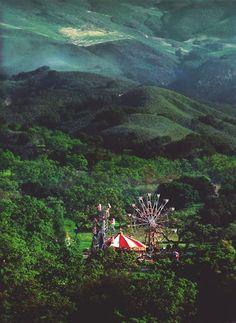 Secret forest carnival in Romania