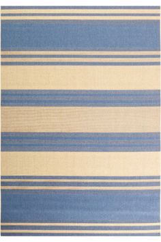 $289  South Padre Rug. Many reviews say it is blue and tan (dark tan), not cream as in the picture.