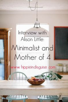 Minimalist and Mother of 4: Alison Little shares images of her stunning interior, farm house, rustic minimal home and talks about raising 4 children, including twins // on www.hippieindisguise.com
