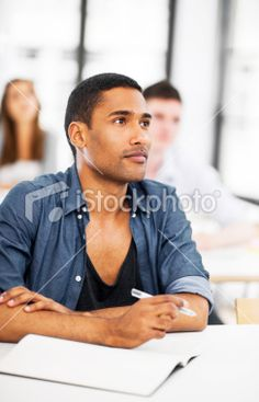 Pensive African-American student. Royalty Free Stock Photo