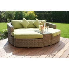 rattan garden furniture maze rattan milan daybed with green cushions garden furniture sets price includes free delivery maze rattan furniture