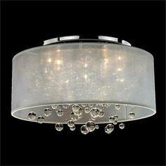 Silhouette 4-Light Wide Sheer Organza Shade Ceiling Light