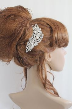 wedding hair comb pearl bridal hair accessories by EverythingBride, $75.00