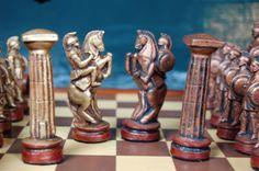 Roman Chess Set Customisable Colours Pieces от WinkingBlindBats