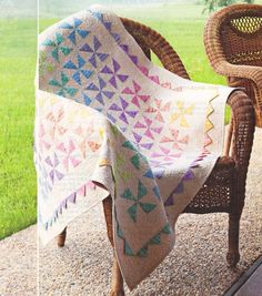 PATTERN for Spinning Rainbows Baby Quilt ~ Quilting Pattern from Magazine