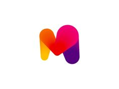 Big-hearted M logo design symbol / letter mark. :)  Visit my portfolio website www.alextass.com