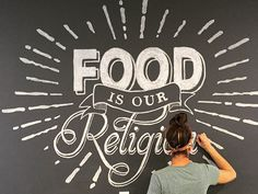 Chalk mural I had the pleasure of creating for Pieous (an extremely tasty pizza place here in Austin)