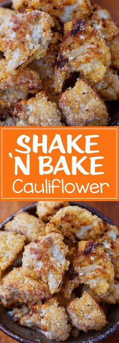 Shake 'N Bake Cauliflower. Vegan options: use non dairy milk and sub parmesan cheese for nutritional yeast or Vegan Parma.