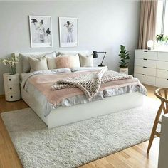 Elegant bedroom rug ideas and design Room Ideas Bedroom, Home Decor Bedroom, Bedroom Wall, Bed Room, Bedroom Storage, Bedroom Furniture, Bedroom Quotes, Mirror Bedroom, Diy Bedroom