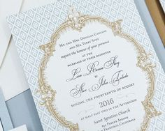Great information on what you should include in your wedding french wedding invitation blue wedding invitation french baroque wedding invitation romantic wedding invitation stopboris Gallery