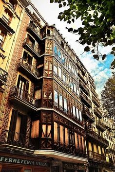 My grandmother lived on the seventh floor at this house on Rambla Catalunyaso lovely to see a picture after all these year....,