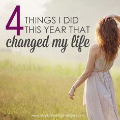 I unexpectedly changed 4 things in my life this year that changed my life. I had no idea that these changes would make both my family and myself feel better...and be a happier mom, wife and person!