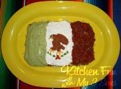 Kitchen Fun With My 3 Sons: Cinco de Mayo 7 Layer Flag Dip